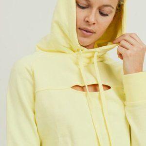 Peekaboo Crop Hoodie Hi-Lo Sweatshirt